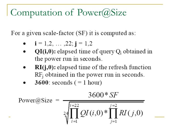 Computation of Power@Size