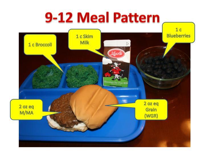 9-12 Meal Pattern