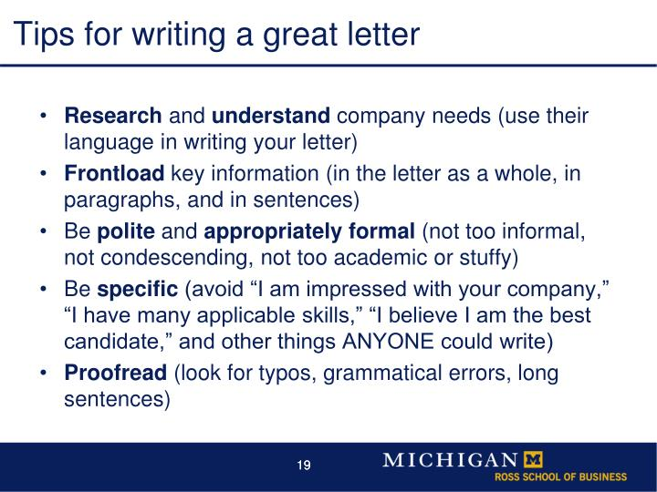 Tips for writing a great letter