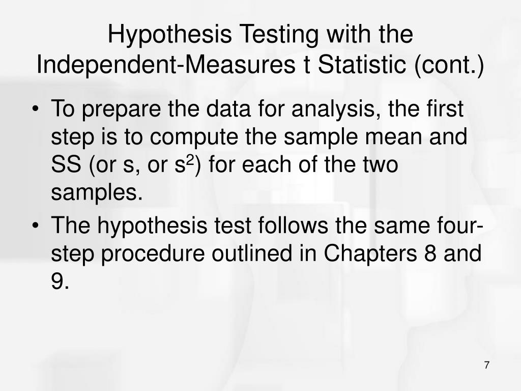 PPT - Chapter 10: The t Test For Two Independent Samples PowerPoint