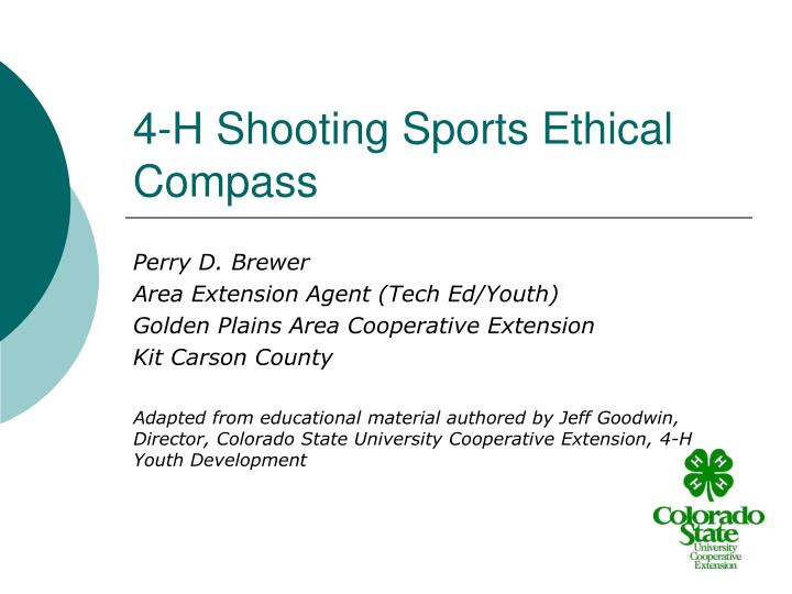 4 h shooting sports ethical compass n.