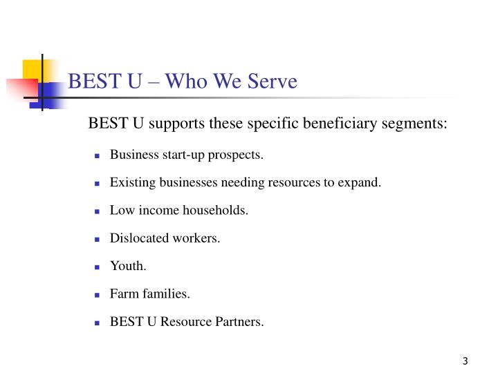 Best u who we serve