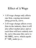 effect of wage