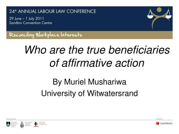 who are the true beneficiaries of affirmative action n.
