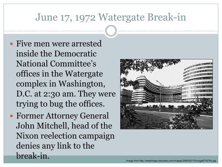 June 17, 1972 Watergate Break-in