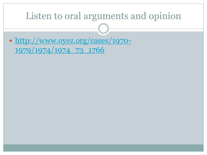 Listen to oral arguments and opinion