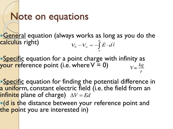 Note on equations