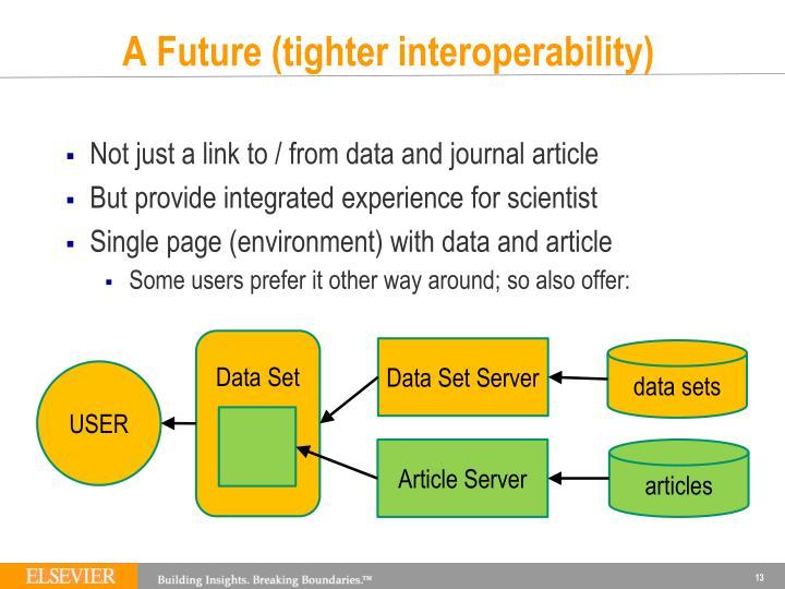 A Future (tighter interoperability)