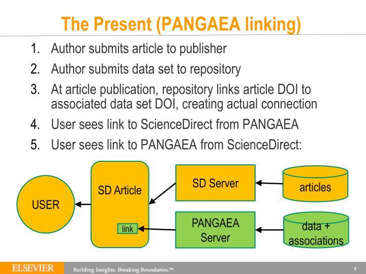 The Present (PANGAEA linking)