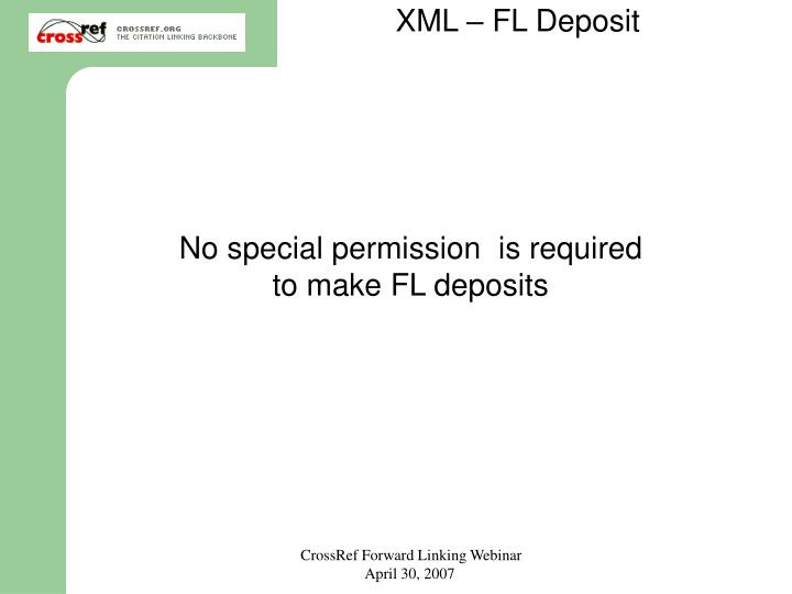 XML – FL Deposit
