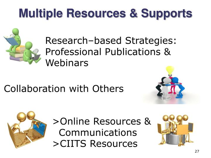 Multiple Resources & Supports