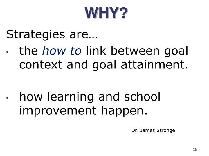 Strategies are…