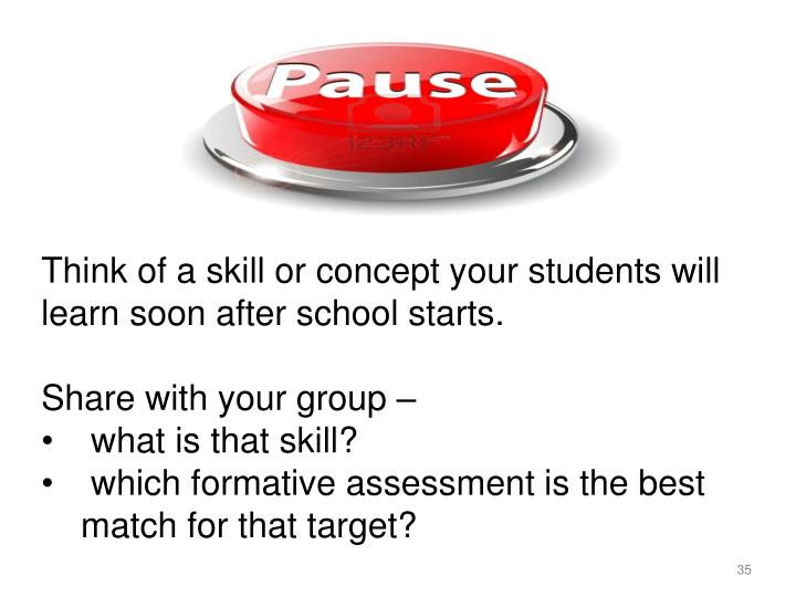 Think of a skill or concept your students will learn soon after school starts.