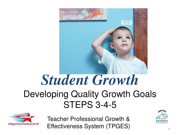 Student growth developing quality growth goals steps 3 4 5