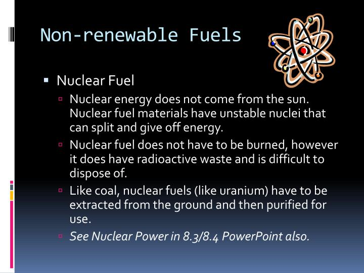 Non-renewable Fuels