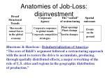 anatomies of job loss disinvestment
