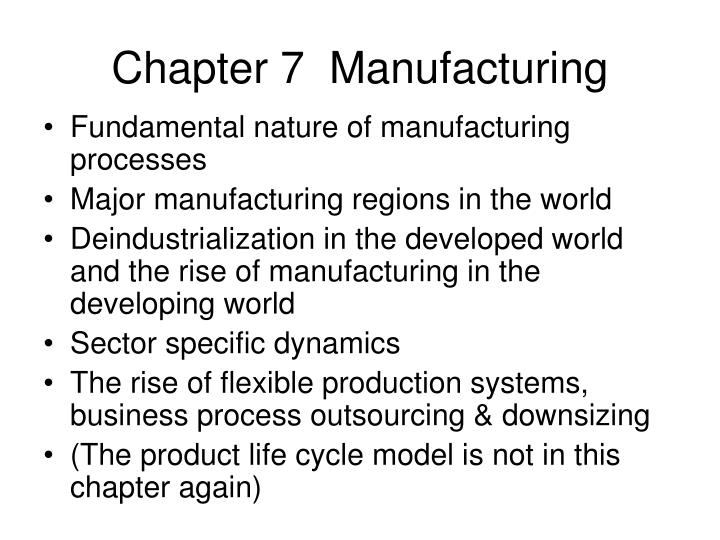 chapter 7 manufacturing
