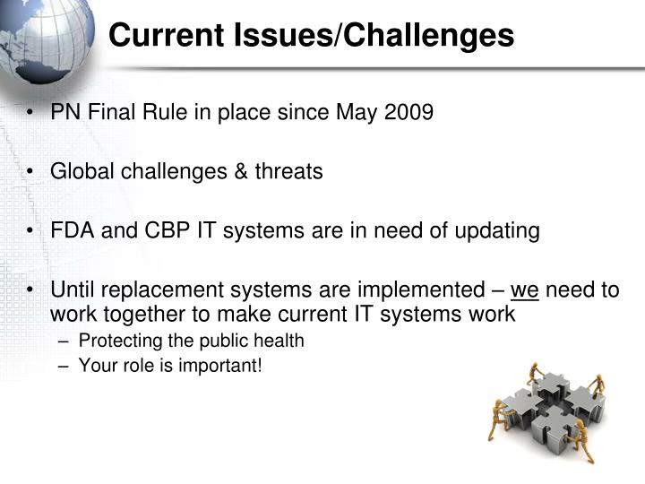 Current Issues/Challenges