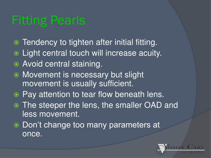 Fitting Pearls