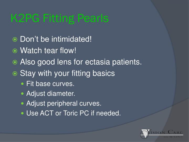 K2PG Fitting Pearls