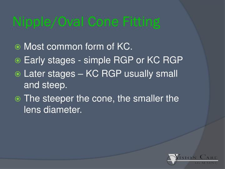 Nipple/Oval Cone Fitting