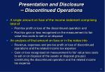 presentation and disclosure discontinued operations