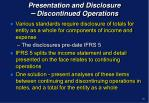 presentation and disclosure discontinued operations2