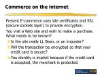 commerce on the internet