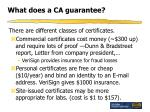 what does a ca guarantee