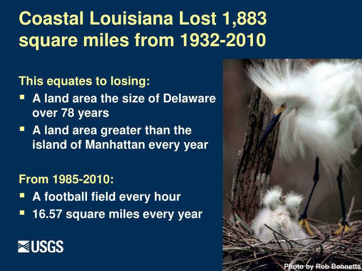 Coastal Louisiana Lost 1,883