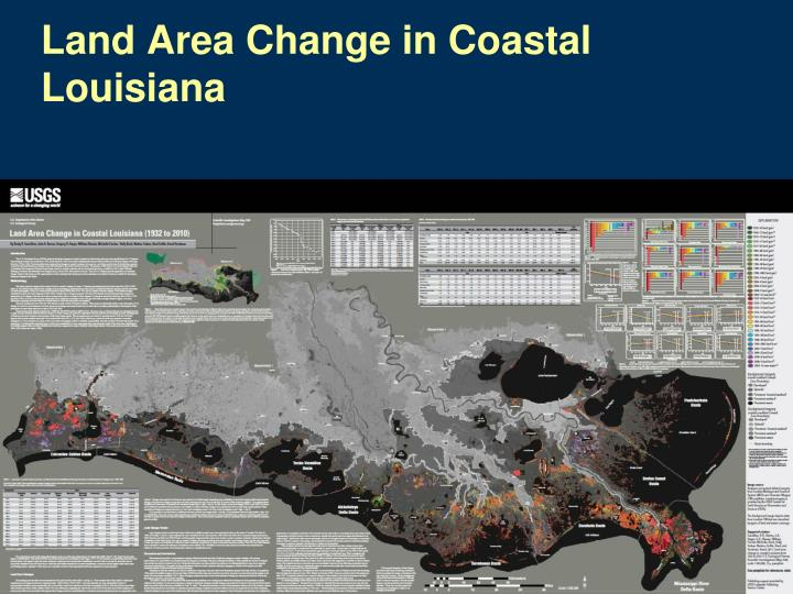Land Area Change in Coastal Louisiana