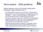 aid to airports 2005 guidelines