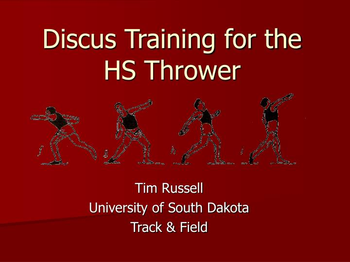 Discus training for the hs thrower