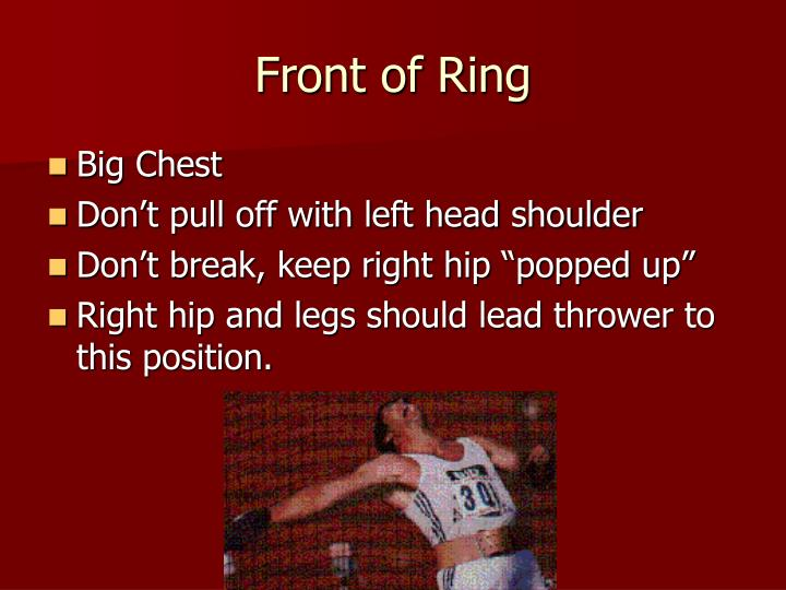Front of Ring