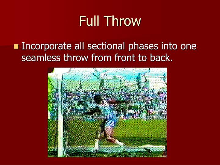 Full Throw