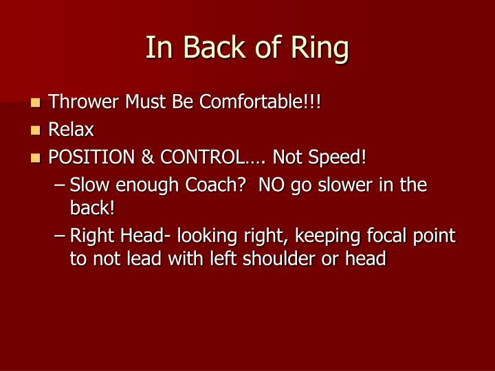 In Back of Ring