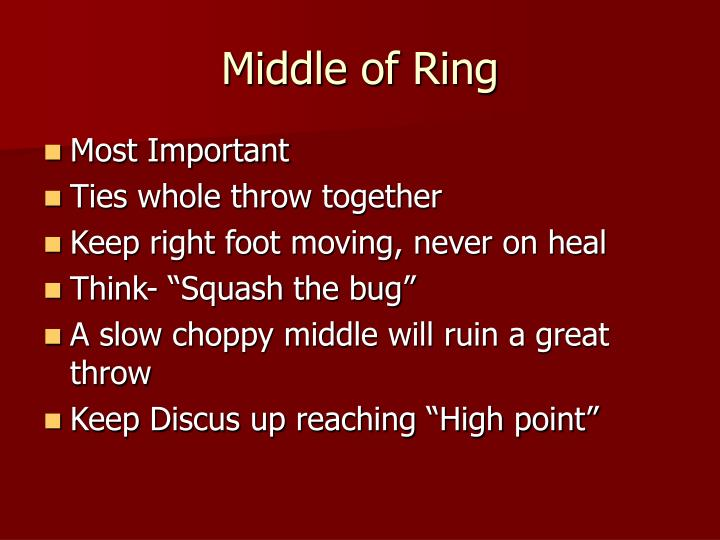Middle of Ring