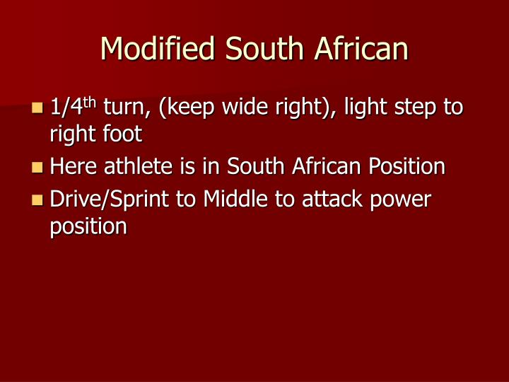 Modified South African