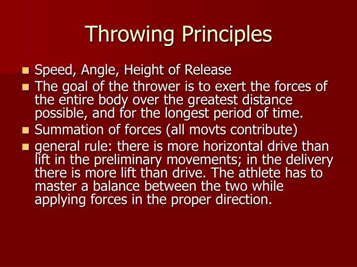 Throwing Principles