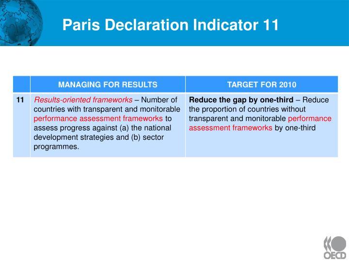 Paris Declaration Indicator 11