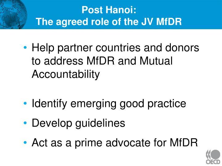 Post Hanoi: