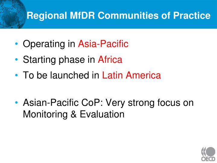 Regional MfDR Communities of Practice