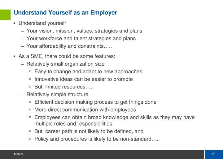 Understand Yourself as an Employer