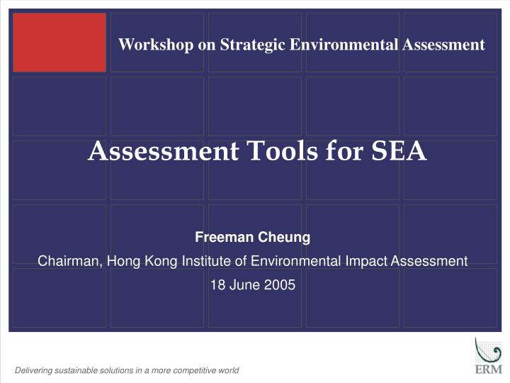 assessment tools for sea n.