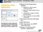 query reporting analysis designing a web application