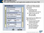 sap netweaver the total integration and application platform for lower tco