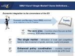 emu euro single market some definitions
