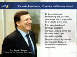 european commission promoting the common interest