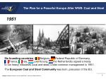the plan for a peaceful europe after wwii coal and steel