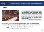 the rome treaties set the stage for further widening and deepening